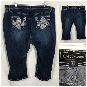 Cato premium jean capris size 24W